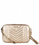Michael Kors Jet Set Charm Medium Camera Bag pale gold colored & gold colored hardware