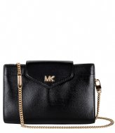 Michael Kors Mott Medium Convertible Crossbody Clutch black & gold colored hardware