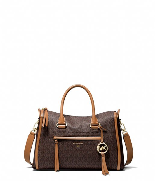 Michael Kors Handtas Medium Satchel brn/acorn