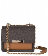 Michael Kors Xs Gusset Crossbody brown acorn
