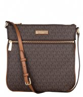 Michael Kors Jet Set Lg Flat Crossbody brown