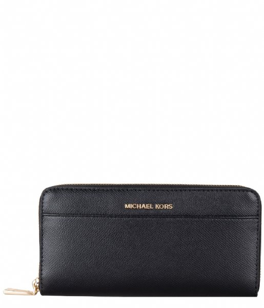 Michael Kors Ritsportemonnee Pocket Za Contntl black & gold colored hardware