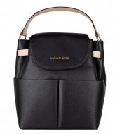 Michael Kors Large Backpack black & gold colored hardware