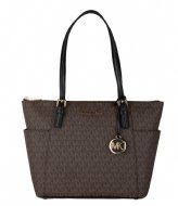 Michael Kors Jet Set EW Top Zip Tote Brownblack (292)