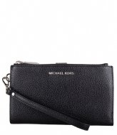 Michael Kors Jet Set Double Zip Wristlet black & silver hardware