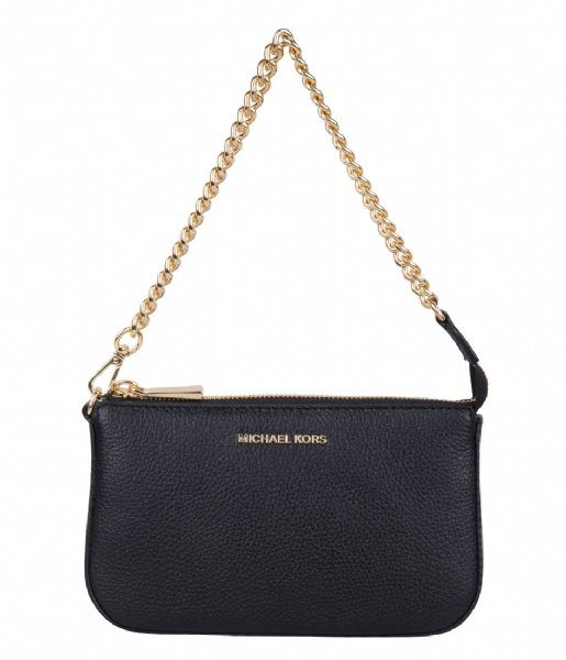Michael Kors Handtas Medium Chain Pouchette black & gold colored hardware