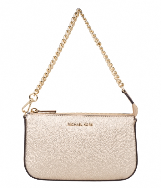 Michael Kors Handtas Medium Chain Pouchette pale gold & gold hardware