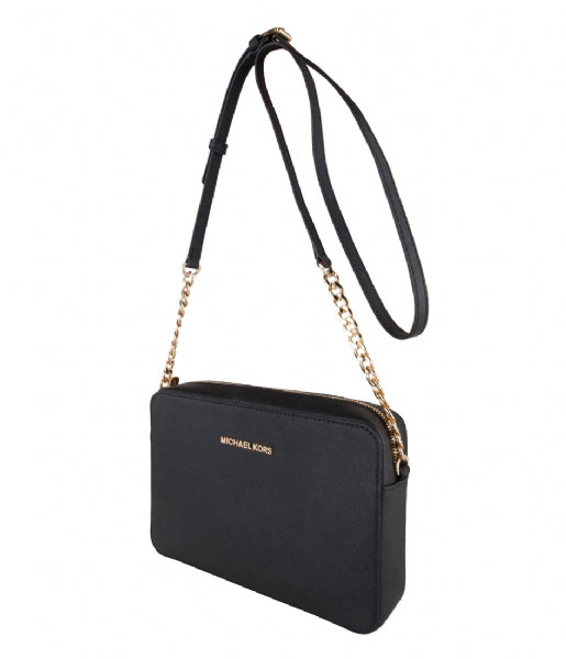 Michael Kors Crossbodytas Jet Set Travel Large EW Crossbody black & gold colored hardware