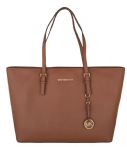 Michael Kors Handtassen Jet Set Travel Medium Top Zip Multi Tote Bruin