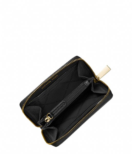 Michael Kors Ritsportemonnee Mott Coin Card Case black & gold hardware