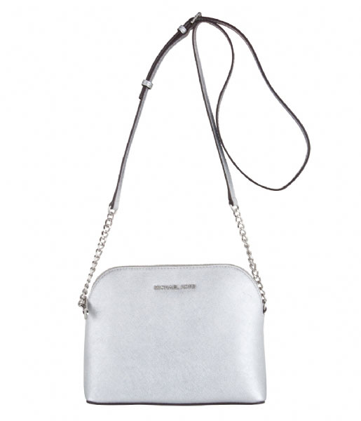 fd84e1d3e6b Cindy Large Dome Crossbody silver & silver hardware Michael Kors | The  Little Green Bag