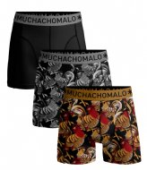 Muchachomalo Short Rooster 3-Pack Print Print Black