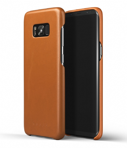 Mujjo Smartphone cover Leather Case Galaxy S8+ saddle tan