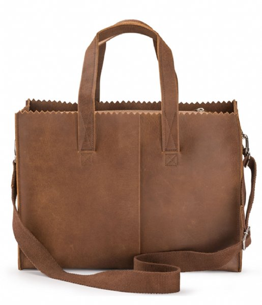 MYOMY Schoudertas My Paper Bag Baby Mid Brown (10360001)