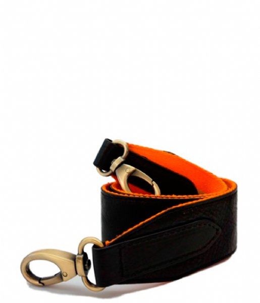 O My Bag Schouderhengsel Olivia Sofia Strap Orange and Black Inside orange and black inside