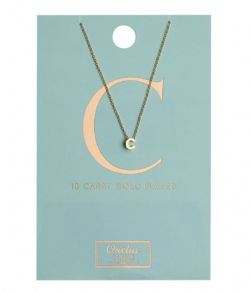 Orelia Ketting Necklace Initial C pale gold plated (10363)