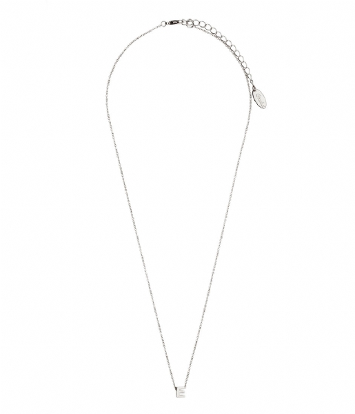 Orelia Ketting Necklace Initial E silver plated (10373)