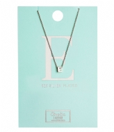 Orelia Necklace Initial E silver plated (10373)