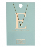 Orelia Necklace Initial E pale gold plated (10372)