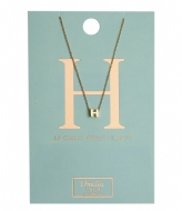 Orelia Necklace Initial H pale gold plated (10751)