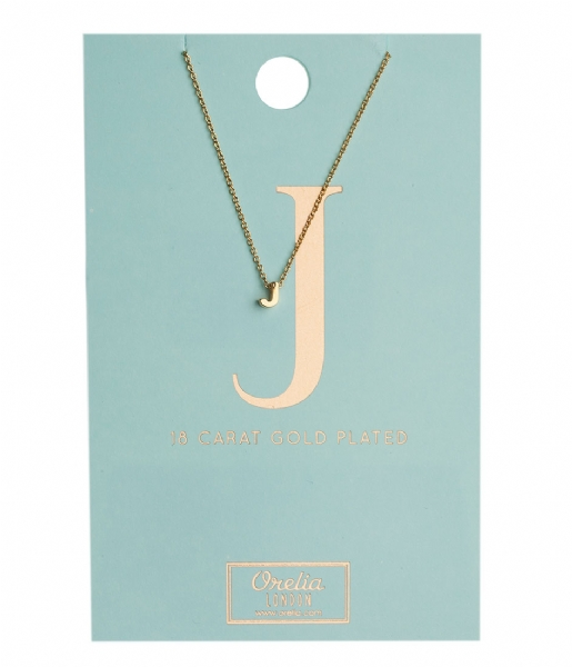 Orelia Ketting Necklace Initial J pale gold (10750)