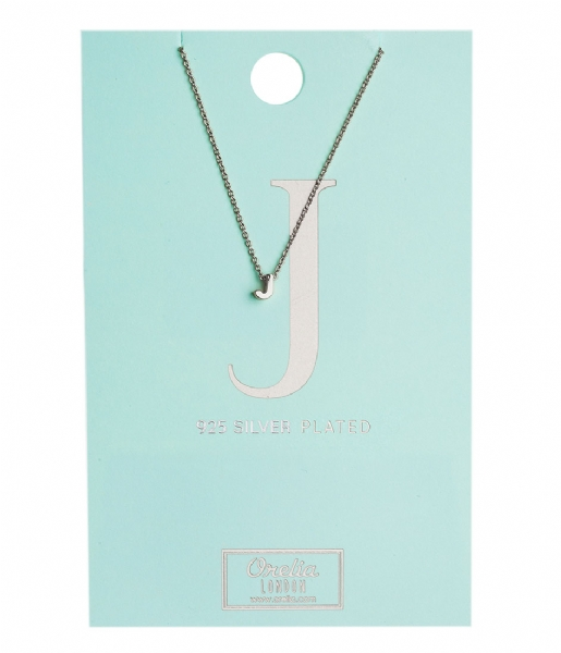 Orelia Ketting Necklace Initial J silver (20130)