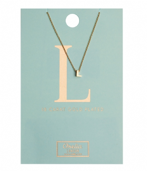 Orelia Ketting Necklace Initial L pale gold plated (10375)