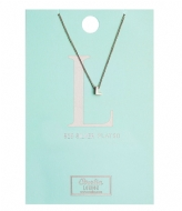 Orelia Necklace Initial L silver plated (10376)