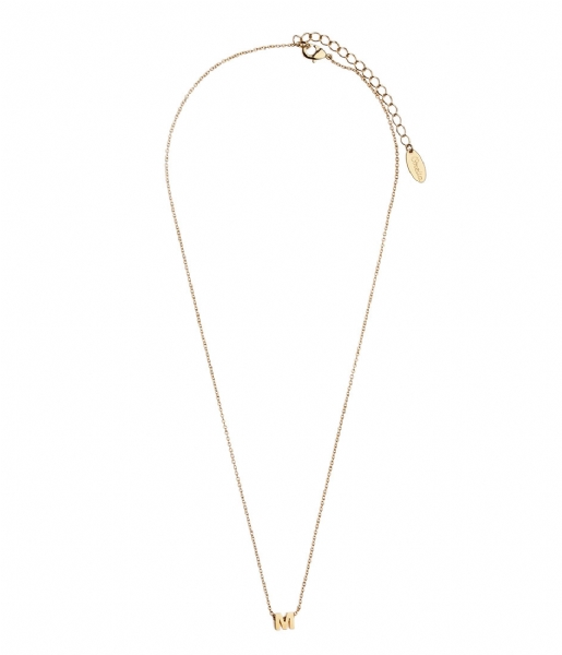 Orelia Ketting Necklace Initial M pale gold plated (10369)