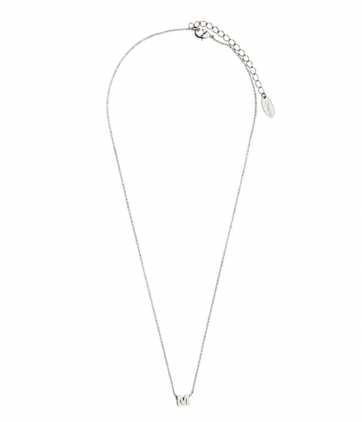 Orelia Ketting Necklace Initial M silver plated (10370)