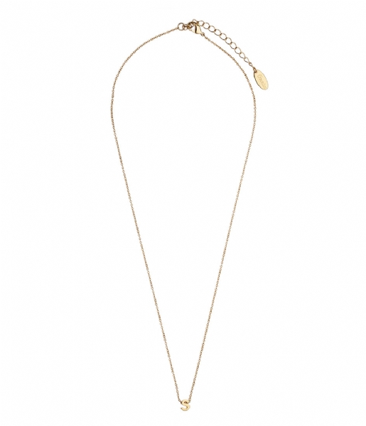 Orelia Ketting Necklace Initial S pale gold plated (10378)