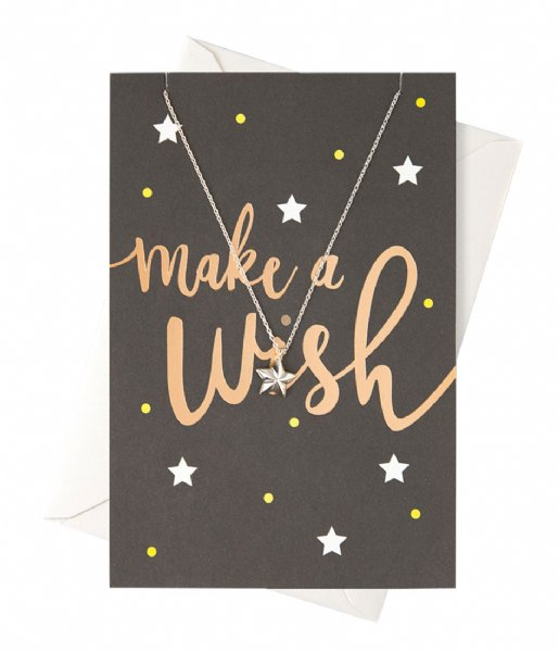 Orelia Ketting Make A Wish Giftcard silver plated (22382)