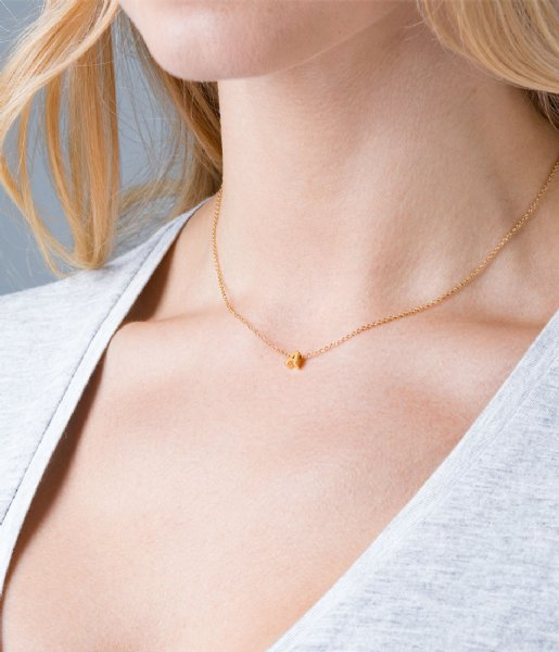Orelia Ketting Necklace Initial A pale gold plated (10366)