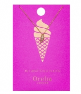 Orelia Ice Cream Ditsy Necklace pale gold (ORE21329)