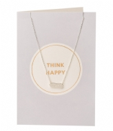 Orelia Think Happy Giftcard silver plated (21117)