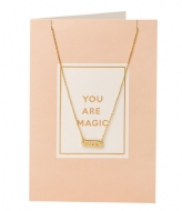 Orelia You Are Magic Giftcard pale gold plated (21121)