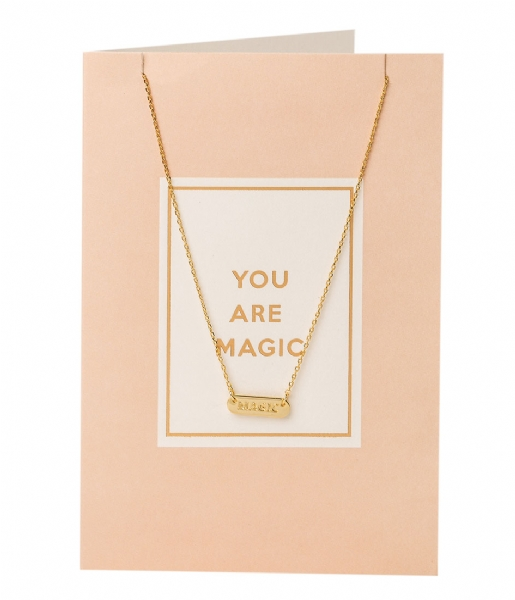 Orelia Ketting You Are Magic Giftcard pale gold plated (21121)