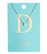 Orelia Necklace Initial D pale gold plated (21140)