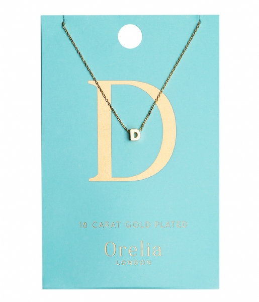 Orelia Ketting Necklace Initial D pale gold plated (21140)
