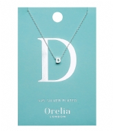 Orelia Necklace Initial D silver plated (21141)