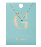 Orelia Necklace Initial G pale gold plated (21144)