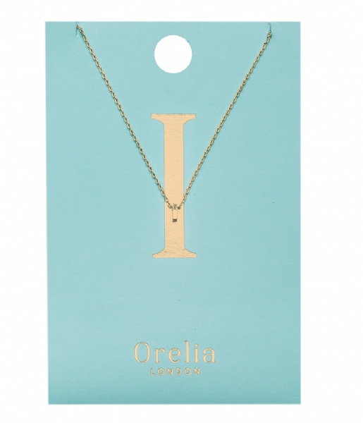 Orelia Ketting Necklace Initial I pale gold (ORE21146)