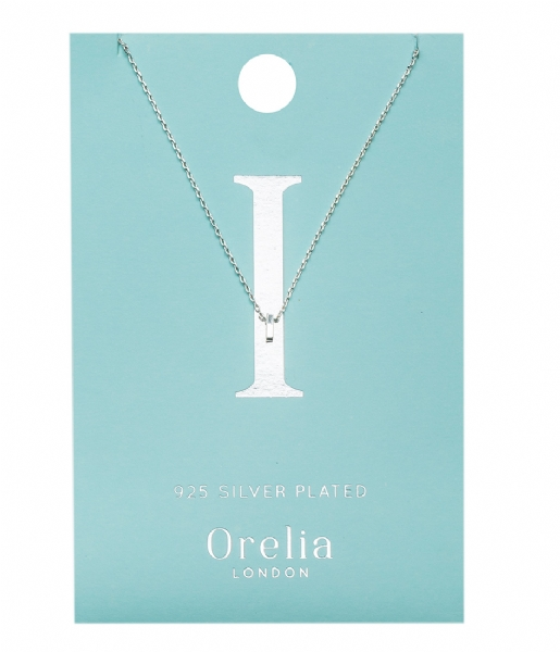 Orelia Ketting Necklace Initial I silver plated (ORE21147)