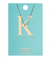 Orelia Necklace Initial K pale gold plated (21148)