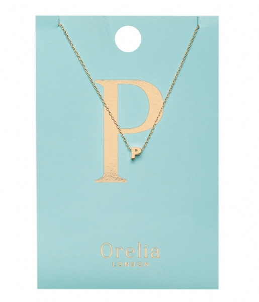 Orelia Ketting Necklace Initial P pale gold plated (21154)
