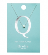 Orelia Necklace Initial Q silver plated (ORE21157)