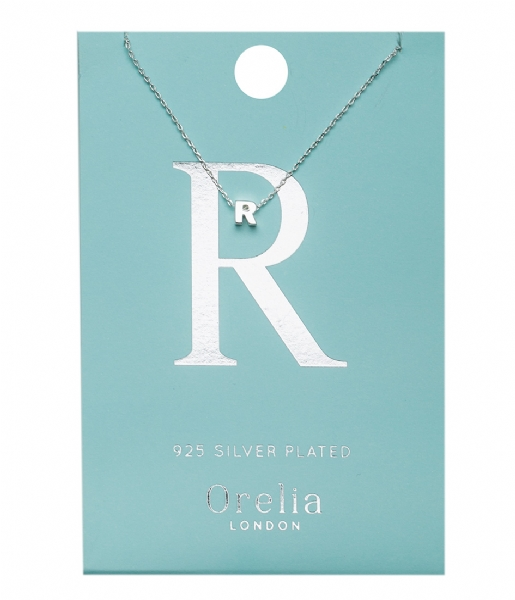 Orelia Ketting Necklace Initial R silver plated (21159)