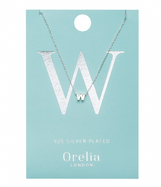 Orelia Ketting Necklace Initial W silver (ORE21167)