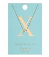 Orelia Necklace Initial X pale gold (ORE21168)