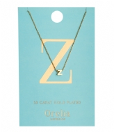Orelia Necklace Initial Z pale gold (ORE21172)